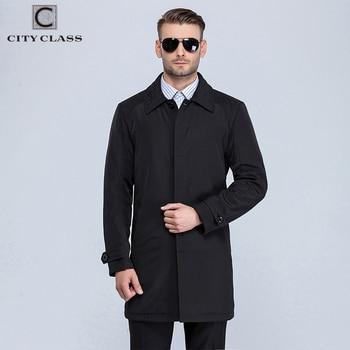 CITY CLASS Nouveau Hommes Automne Manteaux De Mode Casual Classique Trenchs Fit Turn-down Collar Livraison Gratuite Pour mâle 1061-1