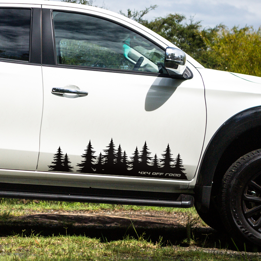 2Pcs//Set Mountain Styling Truck RV SUV Body Sides Vinyl Graphic Decal Stickers