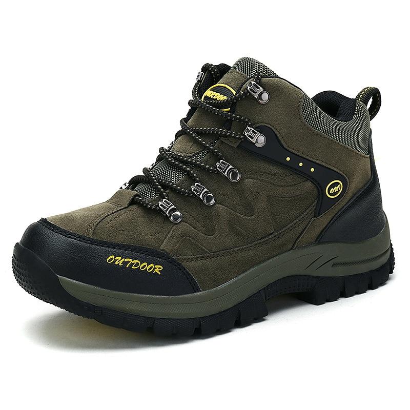 2017 Men Women Outdoor Hiking Shoes Climbing Mountain Sneakers Fishing Water Camping Trekking Sports Waterproof Plus Size 46 47 <br>