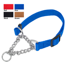 "1.0"" Wide Nylon Plain Color Dog Pet Choke Chain Training Collar 4 Colors 16-29"" Adjustable(China)"