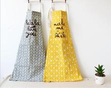 100% Kitchen Aprons Cotton Kitchen Apron Printed Unisex Apron Dining Room Barbecue Restaurant Halterneck