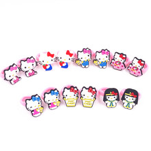 2017 New arrival 10 PCS Kids Rubber Headbands Soft Fabric Hello kitty Girls Hair accessories Elastic Hair Band Japanese style(China)
