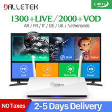 Leadcool QHDTV IPTV French арабский IPTV 1 год товара Dalletektv Smart Android 6,0 Великобритания Italia Испания IPTV Top Box(China)