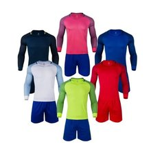 Long sleeves Full sleeves Men size Multicolor optional soccer training jerseys football team unifroms Quality Jerseys(China)