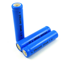 10pcs Lifepo4 3.2v 10440 rechargeable lithium ion battery cell AAA SIZE 200MAH for camera and solar led light