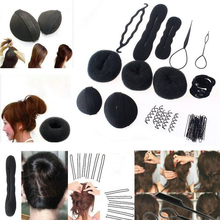 1Set Sponge Disk Hair Pull Hair Pin Head To Weave Hairstyles Tools Hairdresser'S Styling Braid Diy Rubber Band Hair Clips