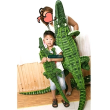 Dorimytrader 200cm Huge Emulational Animal Crocodile Plush Toy Stuffed Lifelike Screaming Alligator Doll Kids Play Toys DY60580(China)