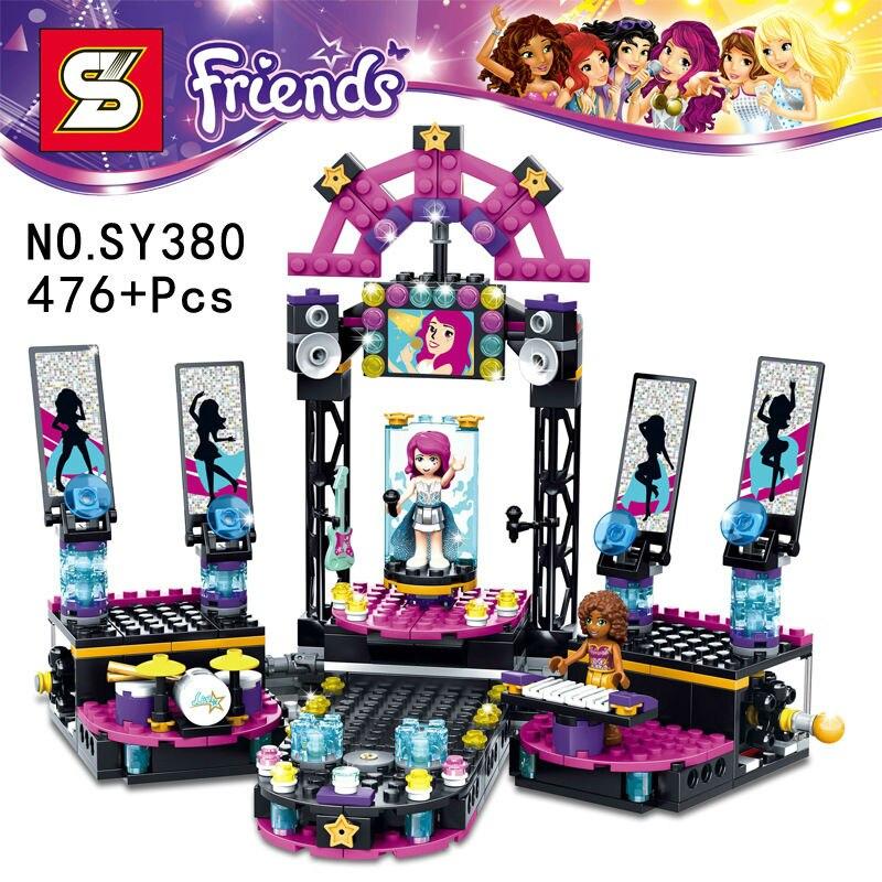 Friends Pop Star Show Stage figurebrick  Grils DIY 3D Building Blocks Model Action Figures Toys SY380 Bela 10406<br><br>Aliexpress