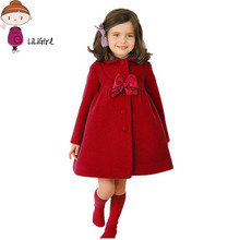 Baby coat 2017 new fall winter jacket Coat children Long Coat baby girl Warm Outerwear Coats cashmere overcoat outerwear warm(China)