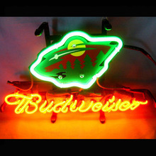 Neon Sign Budweiser TEXANS MAN CAVE Bears RACING Football HOCKEY Golden State HAWK FOSTER neon light sign Brewer EAGLE 13X8 INCH(China)
