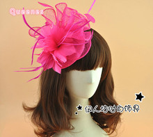 European Paris Vogue WOmen Sinamay Bow Fasciantor Wedding Hat Headband Hair Accessories For WOmen Royal Party Headdress