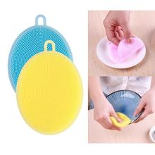 Kitchen Dish Bowl Cleaning Brush Kitchen Accessaries Magic Silicone Sponges Scouring Pads Pot Pan Wash Brushes Cleaner PTSP(China)