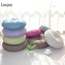 Colorful Thick Round Chair Cushion Cotton&Linen Meditation Cushion    Yoga Cushion Japan Style Tatami Cushion