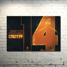 Johan Cruyff Football Legend Art Silk Poster Print 13x20 24x36 inch Netherlands Soccer Star Pictures for Living Room Decor 005