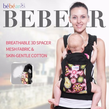 3-24 mes Ergonómico porta bebé 360 Transpirable tejido de malla 3D kid sling Multifunción de moda de carga 20 KG tres postura mochila