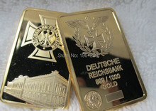 DHL Free shipping 100pcs/lot germany eagle German Empire Bank gold bullion,Souvenir gold bullion bar