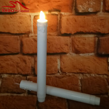 2Pcs Battery Operated Dancing Flamelss Electric Candle Light LED Taper Candle 9 Inches Height for Christmas Decoration(China)