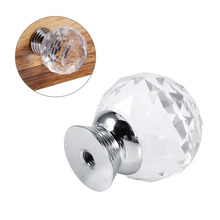 16pcs Transparent Acrylic Cabinet Knobs Wardrobe Cupboard Closet Dresser Drawer Pulls Cabinet Knobs And Handles Furniture Handle(China)