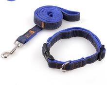 2017 Pets Use New Arrival Dog Leashes Collars Sets Top Quality Cloth Line Leashes Free Shipping Big Size