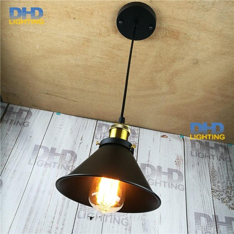 Small Modern Nordic Retro Edison Bulb Light iron Vintage Loft Antique Adjustable DIY E27 Art small Pendant Lamp Home Lighting<br>