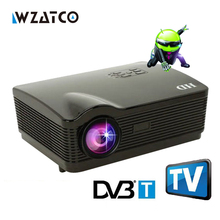 Full HD 1280x800pixels android WiFi DVB T TV video game lcd led smart 3D projector proyector full hd 1080p High Contrast 5000:1