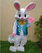 2017 Sell Like Hot Professional Easter Bunny Mascot Costumes Rabbit Adult Free Shipping