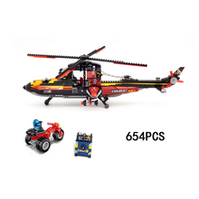 Hot city super police ghost action building block policeman bandits figures motorcycle combat helicopter bricks toys for kids(China)