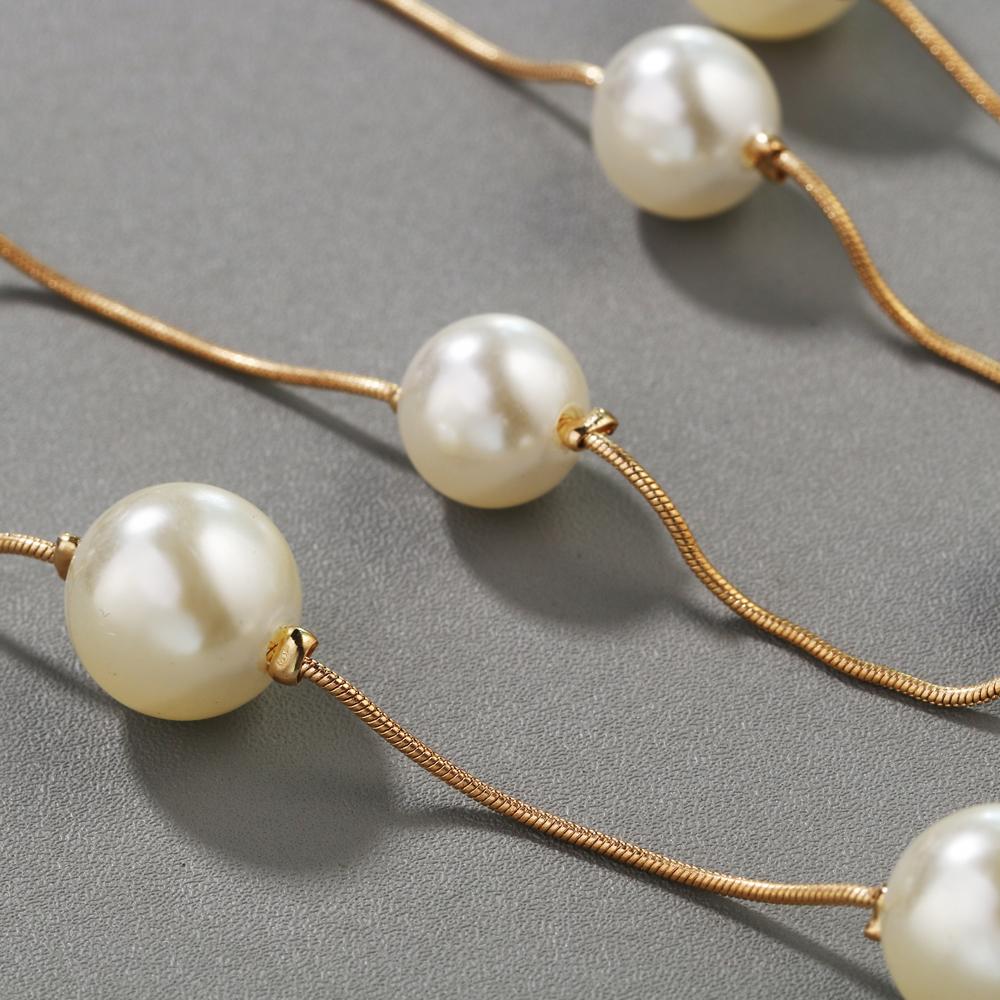 HTB1hxQ4RFXXXXbZXFXXq6xXFXXXS - Simulated Pearl Jewelry Collier Fashion Long Necklaces & Pendants Big Multilayer Christmas Gifts Gold for Women Collares Bijoux