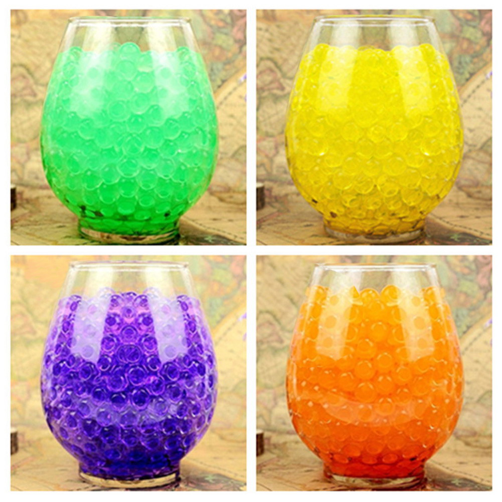 3600 pcs/lot 12 colors Crystal Ball Sea Baby Crystal Mud Soil Water Beads Bio Gel Ball For Flower/Weeding/Decor(China (Mainland))