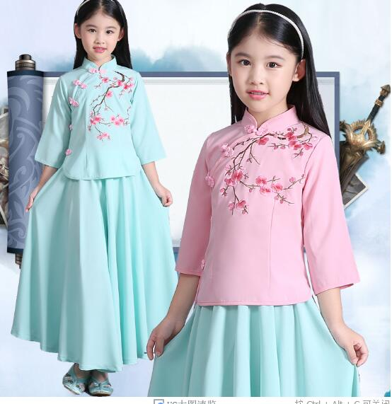 2017 hot Childrens Chinese Miss Girl Costume of China Princess Dress Children Clothing Costume Hanfu Ancient Chinese<br><br>Aliexpress