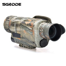 Best Deals 5X40 Magnification HD Digital Night Vision Monocular Optical Objective Lens Spotting Scope Camera Video Telescope