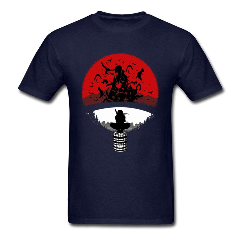 Itachi Uchiha Amazing Clan Round Collar T Shirt Father Day 3D Printed T Shirt Short Sleeve Popular 100% Cotton T Shirt Men's Itachi Uchiha Amazing Clan navy