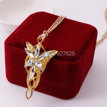 Free Shipping Star Jewelry Twilight Elf Princess women's pendant Necklaces  trendy link chain metal cross P1