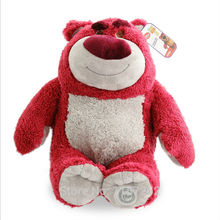 40CM Original Toy Story 3 Lotso Lots O Huggin Bear Plush Toys Big Size Stuffed Bear Smell Strawberry Children Toys for Kids Gift