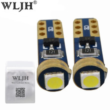 WLJH 10x Universal Led T5 W3W 3030 SMD 37 73 74 Wedge Instrument Panel Speedometer Tacho Gauge Cluster Lamp Dash LED Bulbs Light