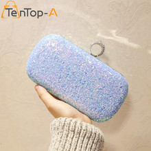 TenTop-A Super Luxury Popular Women Both Sides Sequins Diamond Finger Ring Evening Bags Day Clutches Purse Bridal Bling Bags