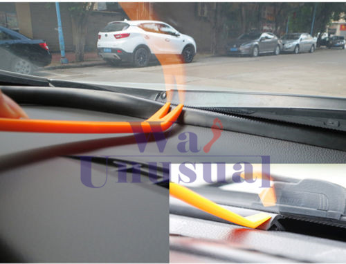 Rubber 1.6m Soundproof Dustproof Sealing Strip for Auto Car Dashboard Windshield 3