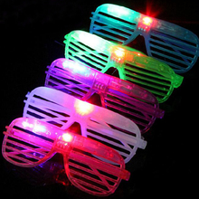 Fashion 10pcs LED Party Lighting Glasses Fashion Led Neon Glasses for Xmas Birthday Halloween Party Bar Costume Decor Supplies