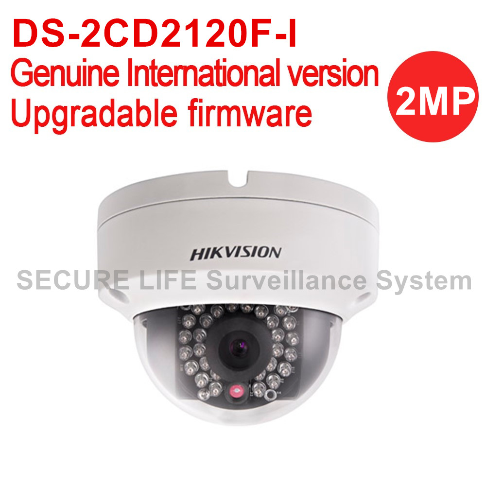 Hikvision DS-2CD2120F-I English version 2MP Fixed Dome cctv Camera POE, ip security camera 30m IR IP66, IK10, sd card recording