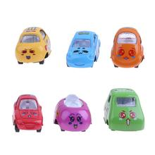 6pcs/Set Mini Car Toy Cute Cartoon Animal Alloy Car Model Children Toy Model Gift Diecast Baby Kids Educational Toy Vehicle Car(China)