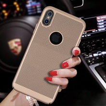 Luxury Fashion Heat Dissipation Telephone Case Cases For iphone 8 8 plus Hard Shell Full Cover Back Cover For Iphone X If Cover