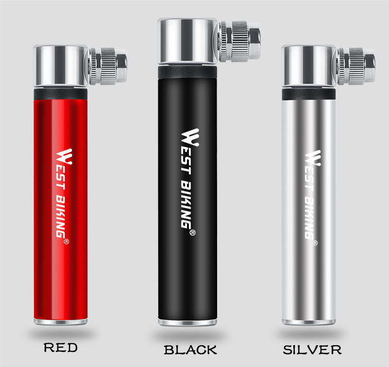 //FV Presta WEST Biking Mini Small Portable Bicycle Tyre Air Hand Pump for Road Bike Tyres//Mountain Bikes//Footballs//Basketballs//Inflatables with AV Pumps Include Bike Frame Attachment Valve Shrader