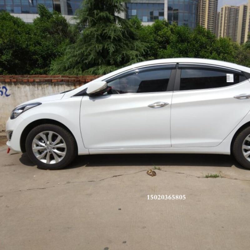 Window Visor Vent Sun Shade Rain Guard 4pcs Fits Hyundai Elantra 2011-2020