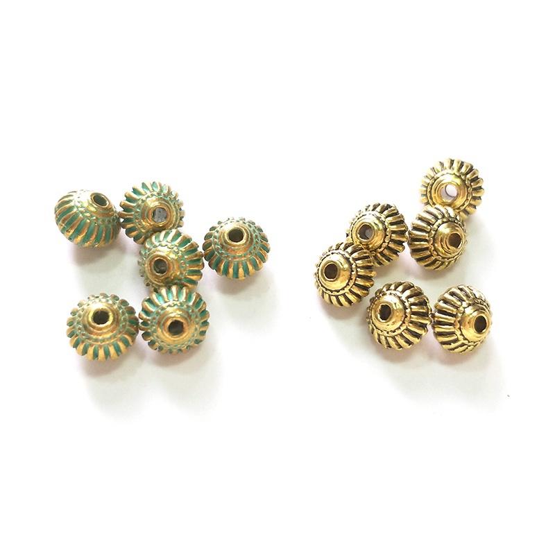 Copper washers Pick Qty Craft Jewelry supplies Diy 25/%OFF Green Patina 8mm washers Mykonos Greek Ceramic Round Washer Beads