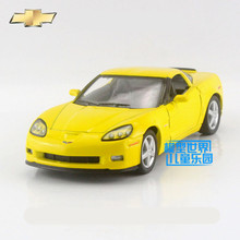 Free Shipping/1:36 Scale/2007 Chevrolet Corvette Z06/Educational Model/Pull back Diecast Metal toy car/Collection