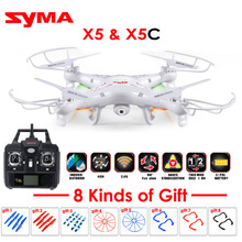 Syma X5C Explorers 4 CH 6-Axis Quadcopter Drone 2.4Ghz with HD 2MP Camera OR X5 No Camera RC Helicopte dron Remote Control Radio(China)