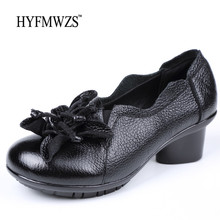 HYFMWZS Plus Size 35-42 Genuine Leather Shoes Woman Full Grain Leather Ballet Shoes Fashion Designers Light Weight Slip-on Shoes(China)
