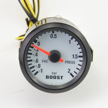 52mm black turbo pressure gauge pointer car modification Meter Auto boost  gauge vacuum BAR PRESS GAUGE Free shipping
