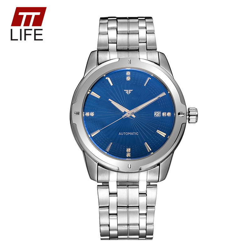 TTLIFE Full Steel Business Mens Wristwatch Automatic Mechanical Calendar Water Resistant Relogio Masculino Casual Wrist Watch<br><br>Aliexpress