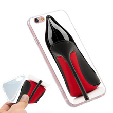 High Heel Stiletto  Clear Soft TPU Slim Silicone Phone Case Cover for iPhone 4 4S 5C 5 SE 5S 7 6 6S Plus 4.7 5.5 inch